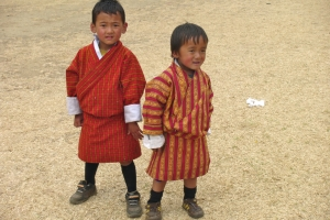 Bhutanese Kids in Gho